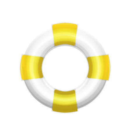 life support: Shiny stylish vector lifebuoy icons Illustration