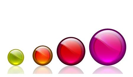 Shiiny glassy vector circles with reflections Stock Vector - 17826595
