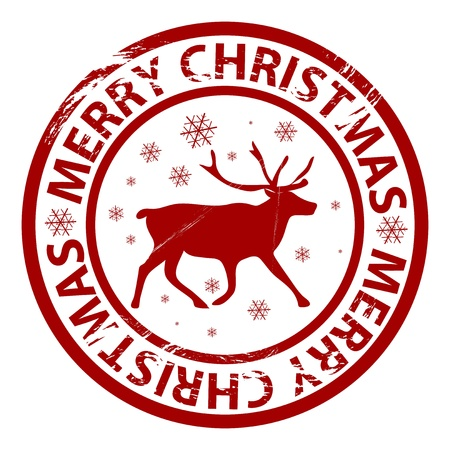 Vector Christmas grunge rubber stamp Vector