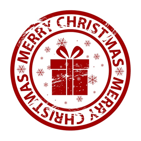 Vector Christmas grunge rubber stamp