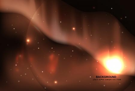 Vector sky aurora borealis   space background Stock Vector - 17827146