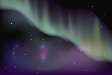 borealis: Vector sky aurora borealis   space background