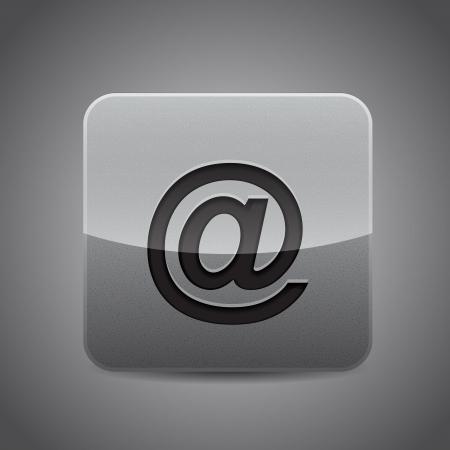 Vector forum   message application metal icon Stock Vector - 17827177