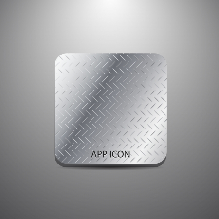 Vector blank metal textured application icon Vector