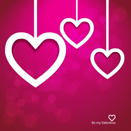 love wallpaper: Vector paper heart valentine background