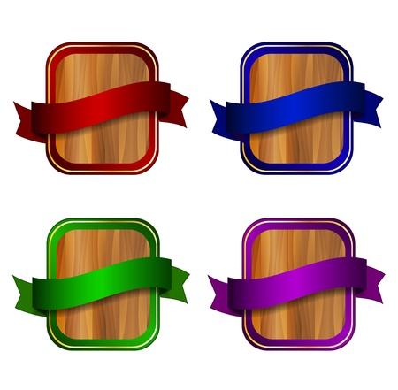 Vector wooden labels Stock Vector - 17827409