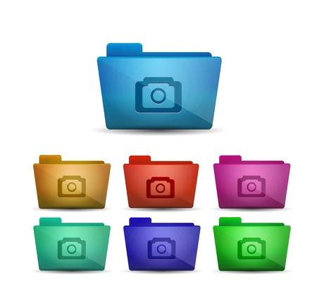Vector photo folder Stock Vector - 17827328