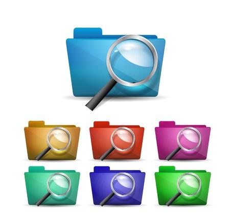 Vector search folder icon Stock Vector - 17827391