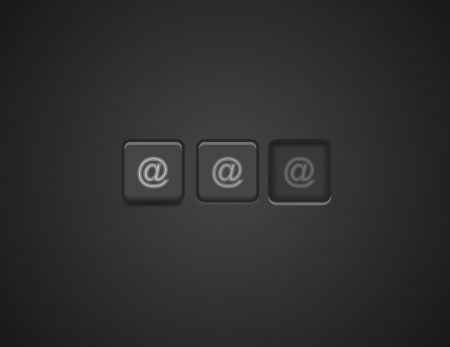 chatbox: Vector e-mail buttons Illustration