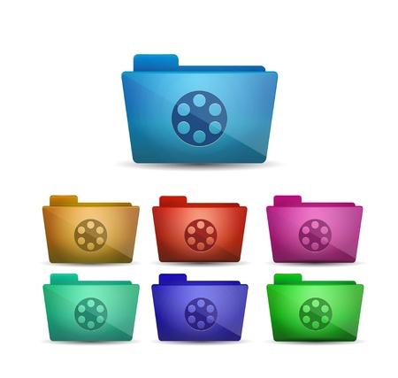 music production: Vector movie folder Illustration