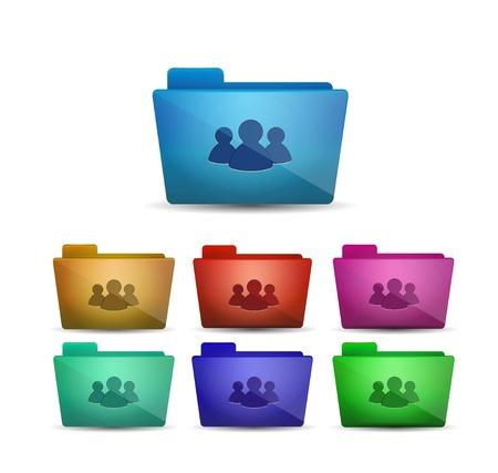 Vector member folder icon Stock Vector - 17827227