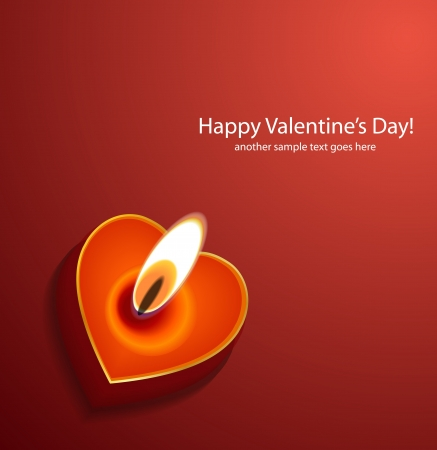 gift of hope: Vector Valentines day background: heart candles