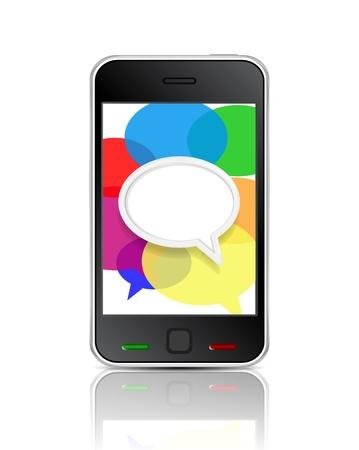 Vector smart phone message icon Stock Vector - 17827270