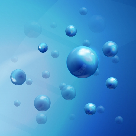 Vector molecules background Stock Vector - 17827344