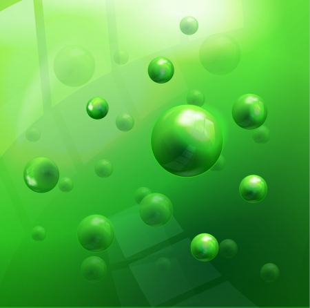 Vector molecules background Vector