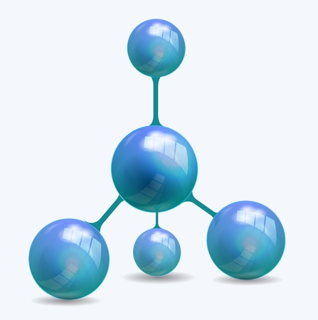 Vector abstract blue molecule structure Stock Vector - 17827282
