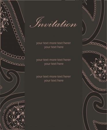 Vector luxury invitation template. Paisley pattern Stock Vector - 17863341