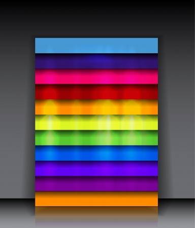 arco iris vector: Brillante arco iris de fondo vector