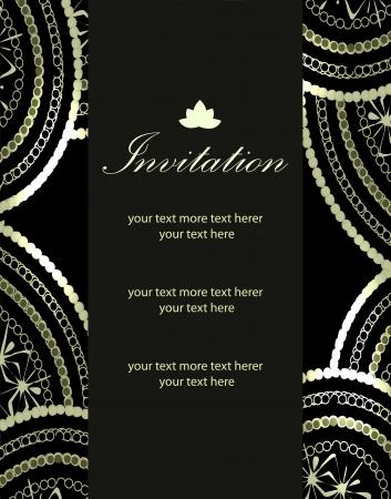 Vector luxury invitation templates (paisley pattern) Ilustrace