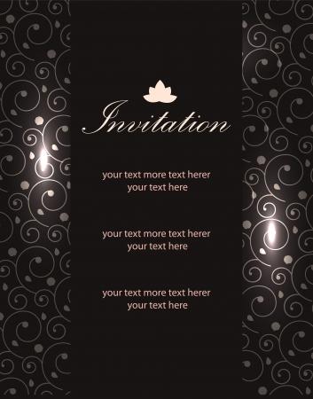 Vector luxury invitation templates