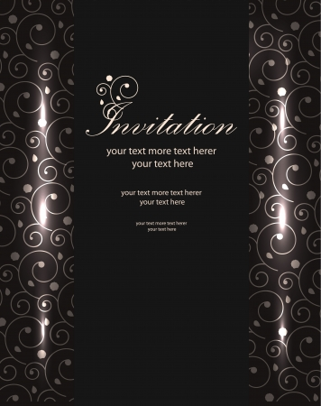 Vector shiny luxury invitation templates Illustration