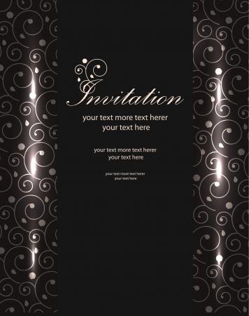 Vector shiny luxury invitation templates Illustration