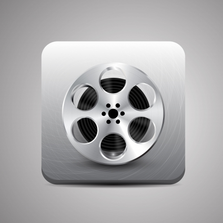 cinematographer: Vector film reel application Illustration