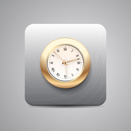 Vector clock application icon Vector