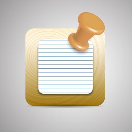 Vector agenda  notebook application icon Vector