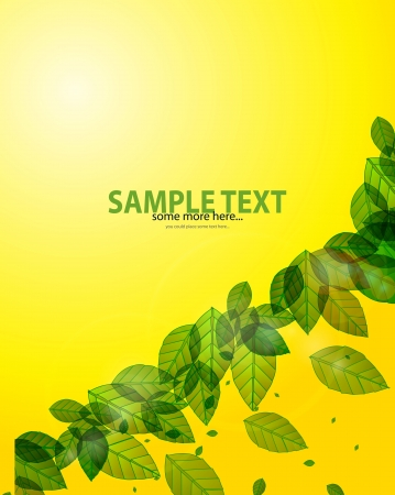Green leaves background Stock Vector - 17863535