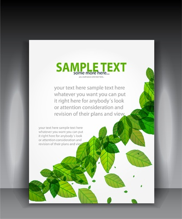 Green leaves vector banner Stock Vector - 17863556