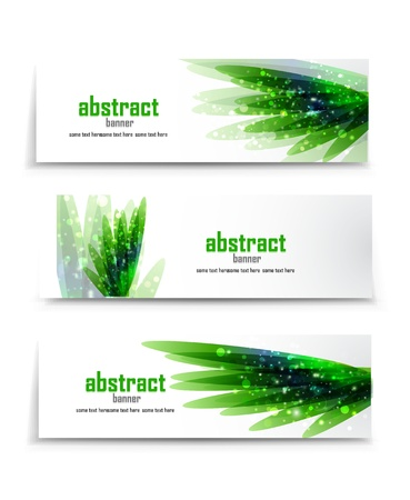 green colorful: Vector banners hierba verde