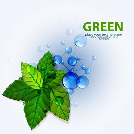 Vecteur verts molécules naturelles backgrouns Vecteurs