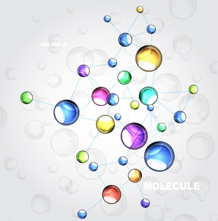 Shiny colorful molecules background Stock Vector - 17863496
