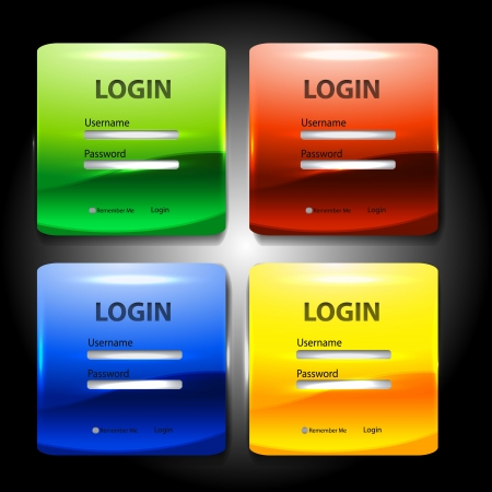Colorful login page Vector