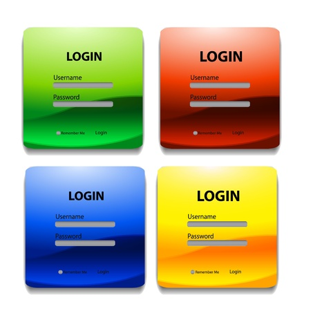 download button: Colorful login page