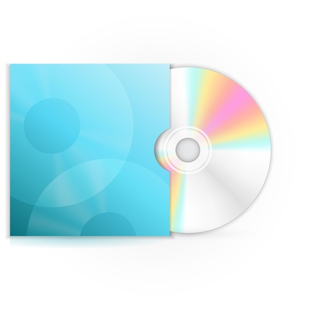 compact disk: Vector cd disc Illustration