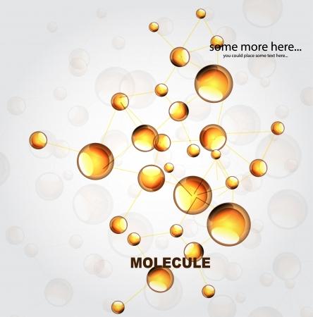 Glossy orange molecules background Stock Vector - 17863481
