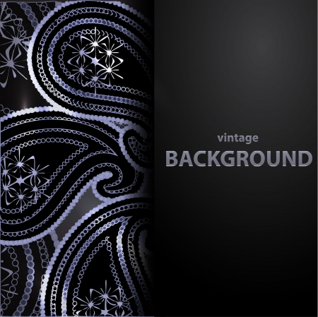 Blue vector paisley background Vector