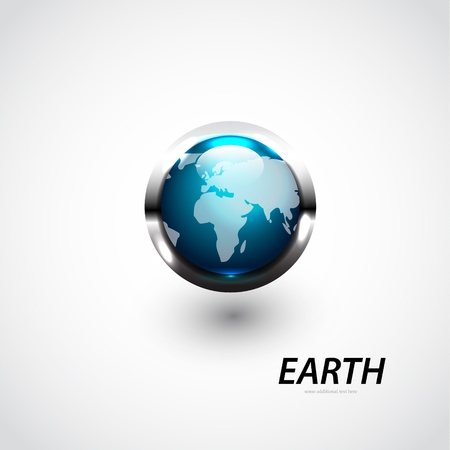 Glossy vector Earth globe Stock Vector - 17863343