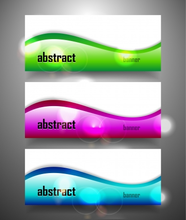 Shiny wave vector banner Vector