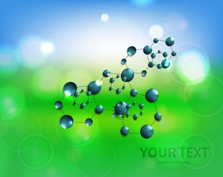 Vector molecules background Stock Vector - 17863515