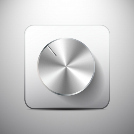 Vector volume knob icon Vector