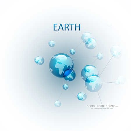 Vector molecules background (Earth) Vector
