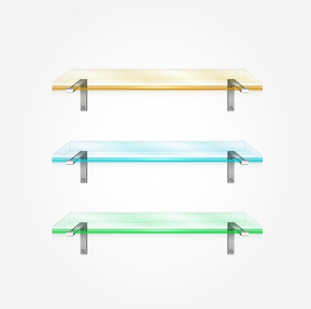 Vector glass shelves Stock Vector - 17863368