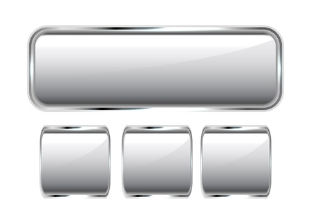 Glossy vector metal buttons