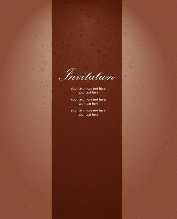 Vector invitation pattern Vector