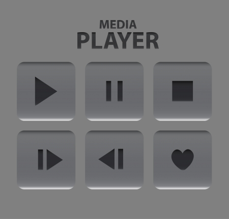 Vector media player buttons Stock Vector - 18053577