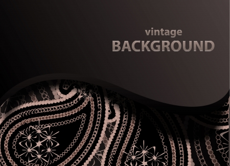 backgorund: Vector paisley backgorund with wave pattern
