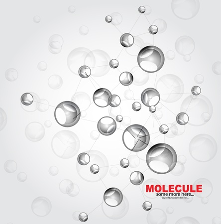 Glossy molecules background Vector